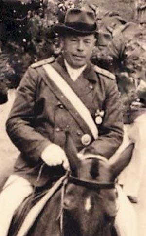 Heinrich Vogelsang als Brudermeister, Schützenfest 1954 / Foto: St. Sebastianus Schützenbruderschaft