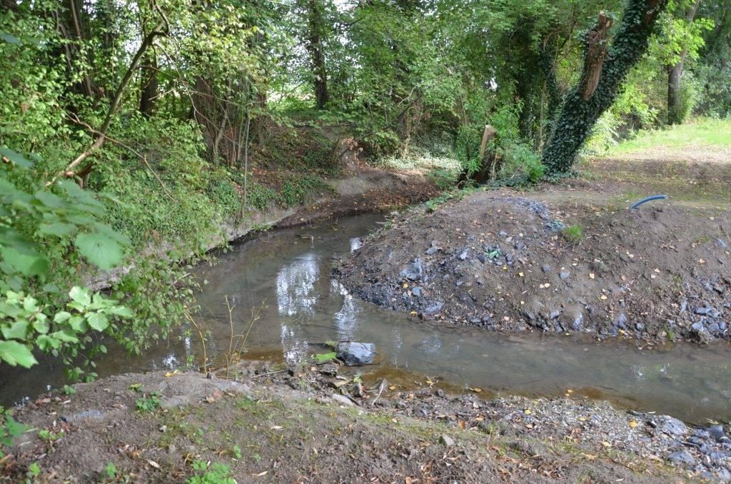 Von hier aus wird der neue Beckenpass mit Wasser aus dem Mühlenbach versorgt