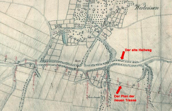 Der Plan des Geometers Padberg von 1817