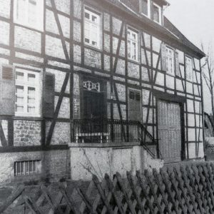 Gelegentlich wurde Sandstein auch zu Fachwerkhäusern verwandt