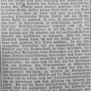 Westfälischer Volksfreund am 14.1.1919 (2 von 3) - Zentrumspartei