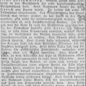 Westfälischer Volksfreund am 14.1.1919 (1 von 4) - Sozialdemokratische Vers.