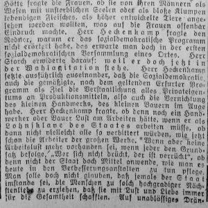 Westfälischer Volksfreund am 14.1.1919 (3 von 4) - Sozialdemokratische Vers.