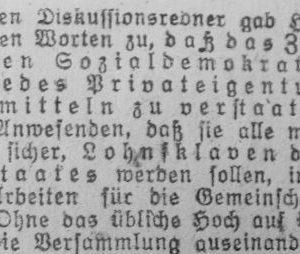Westfälischer Volksfreund am 14.1.1919 (4 von 4) - Sozialdemokratische Vers.