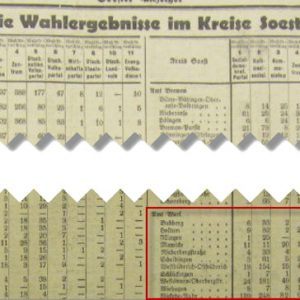 Soester Anzeiger vom 1. August 1932
