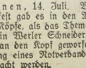 Soester Anzeiger vom 14. Juli 1932