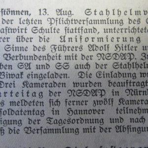 Freimüthige an der Haar vom 13.08.1933