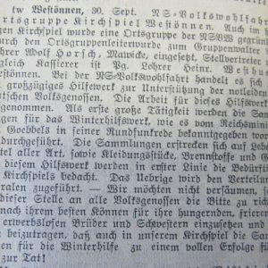 Freimüthige an der Haar vom 30.09.1933