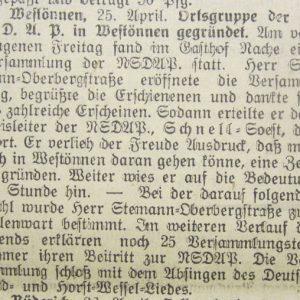 Soester Kreisblatt vom 29.04.1933