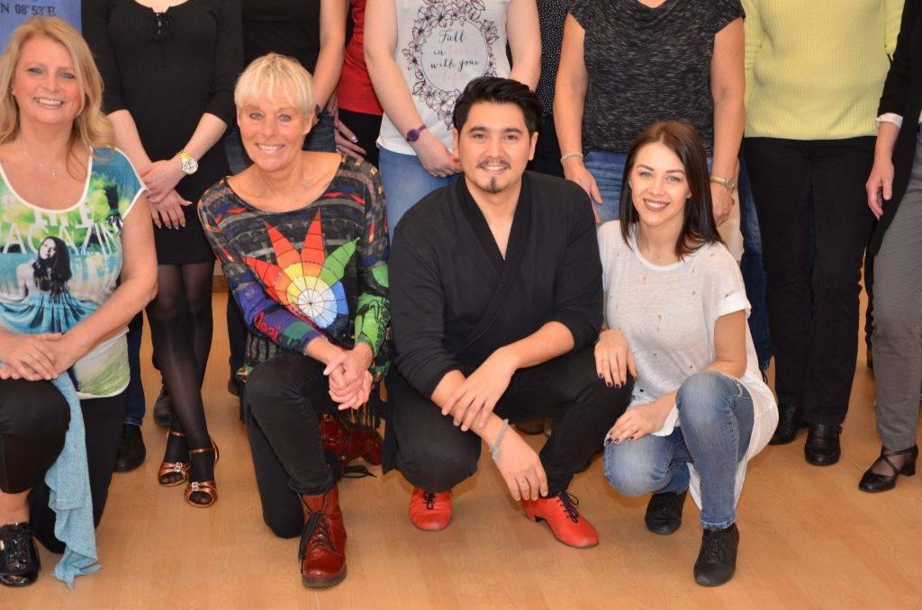 v.li.: Tilla Grote - Studioleitung, Erich Klann und Oana Nechiti