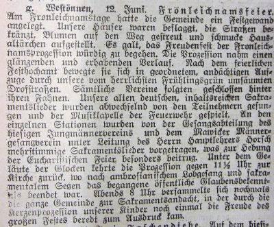 Pressebericht vom 12. Juni 1925