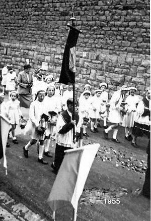 Fronleichnam am 9. Juni 1955