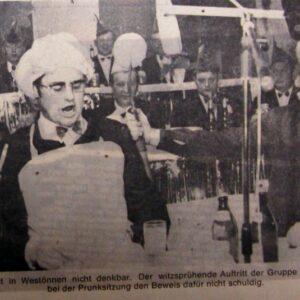 1200 Jecken feiern 1971 Karneval