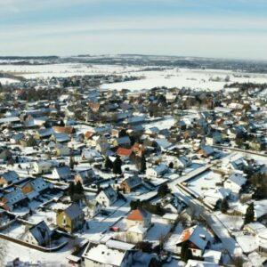 Winterliches Westönnen aus der Luft