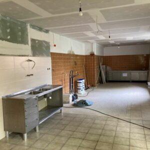 Umbau Schützenhalle - Teilabschnitte beim Hallenumbau fertiggestellt