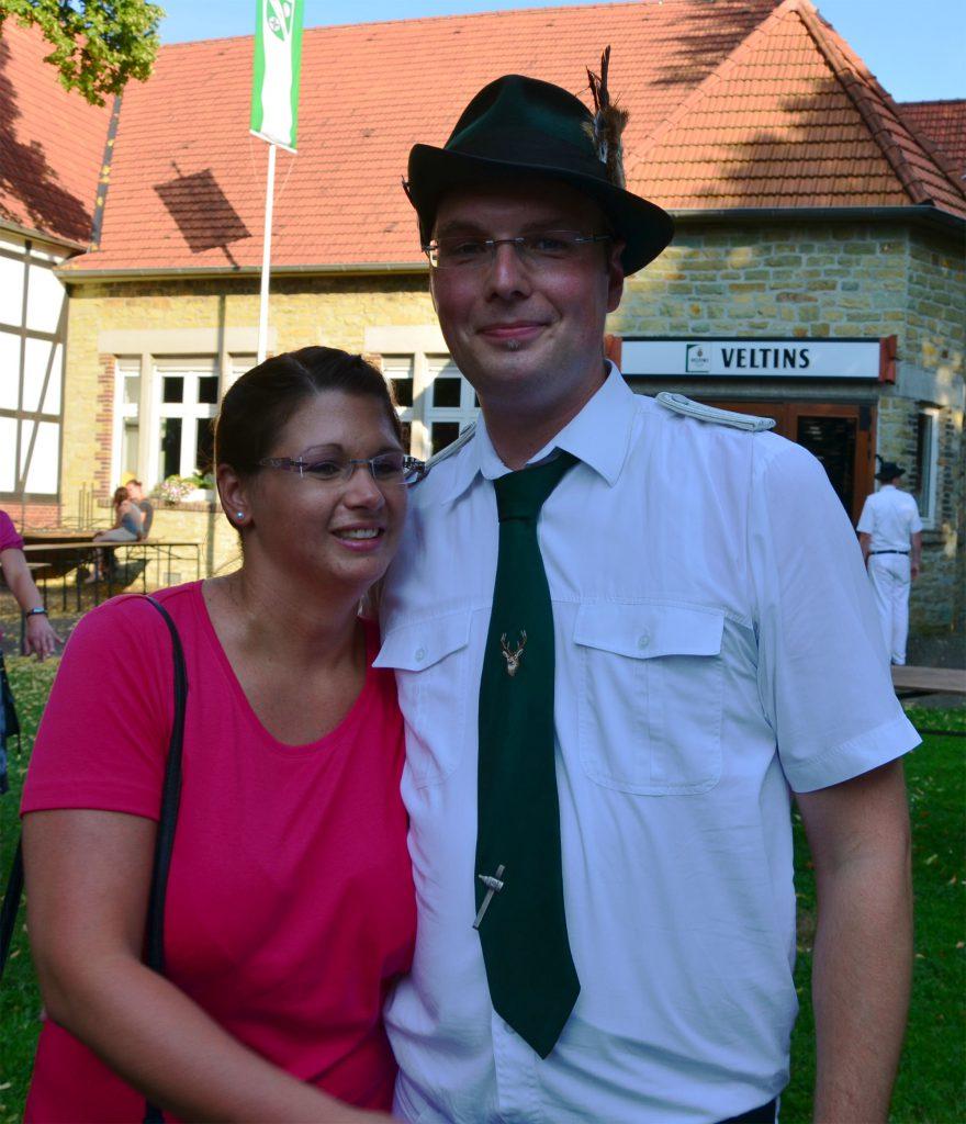 Ein strahlendes Königspaar: Volker und Gabi Pieper