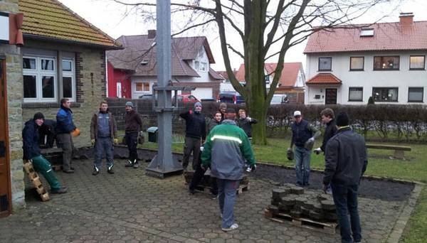 Beginn der Arbeiten am Schützenplatz