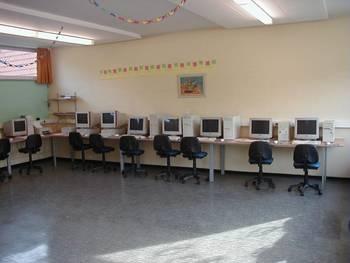 Der alte Computerraum entstand mit Hilfe des Fördervereins