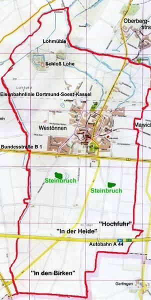 Gemarkung Westönnen