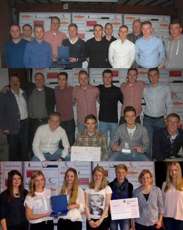 Gleich drei Westönner Mannschaften wurden vom Werler Stadtsportverband ausgezeichnet - 2 Mal Fußball (Erste Mannschaft und A-Jugend) und einmal Volleyball (A-Juniorinnen)