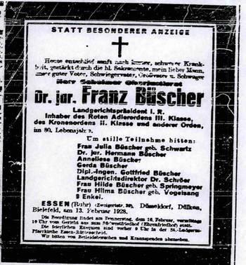 Dr. Franz Büscher